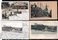 112285 4 AK Remscheid Litho 1901 Kirche Wasserturm Kaiserplatz Kaiserbesuch 1899