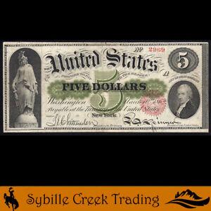 BRIGHT 1862 $5 LEGAL TENDER *GREEN BACK NOTE* Fr 61c  2969