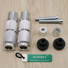 Silver CNC Aluminum 8MM Motorcycle Universal Foot Pegs Footpegs Rear Pedals