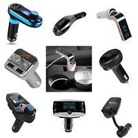 Handsfree Car Kit Wireless FM Transmitter LCD MP3 Player USB Charger