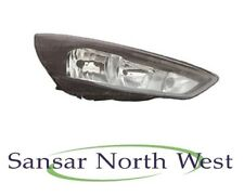 Ford Focus - Drivers Headlamp Headlight With Halogen DRL Black - O/S RIGHT