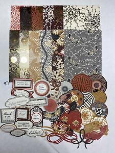 Lot Of Anna Griffin Honoka 5x7 Card Layers Dbl Sided Embellishments Sentiments