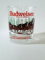 Budweiser Clydesdales rocks / old fashioned glass 1989