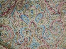 Ralph Lauren Beige Red Blue Paisley King Pillowcases Set Of 2