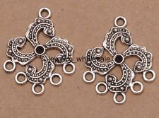 6pcs Tibetan Silver Charm Earring Connectors 30x25mm Jewelry Making D3085