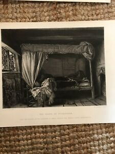 Antique 19th Century Etching The Death Of Buckingham