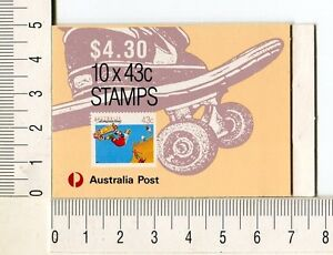 41219) AUSTRALIA 1990 MNH** QEII 43c (x10) Skateboard Booklet