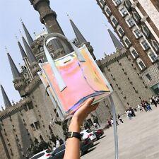 Women Hologram Transparent Shoulder Bag Clear Laser Handbag Holographic Purse