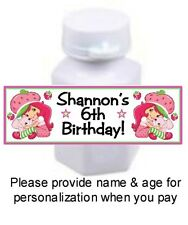 30 Strawberry Shortcake Birthday Party Bubble Labels Stickers Baby Shower Favors