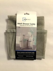 Mainstays Mesh Shower Caddy Color Gray