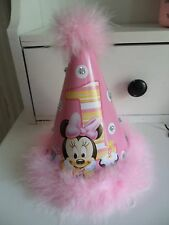 Baby Minnie Mouse Hat Pink 1st / First / One Birthday Party