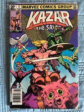MARVEL COMICS KA-ZAR THE SAVAGE #3 1981 BRENT ANDERSON VG (4.5)