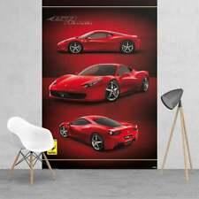 Bedroom wallpaper 232x158cm Ferrari luxury sports super car wall mural red