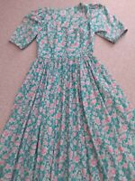 Vintage Laura Ashley Cotton Lawn Tea Dress  UK 14 (EU 40 US 12)