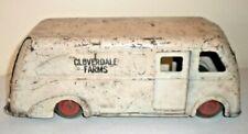 Original Marx Toy Cloverdale Farms Pressed Steel Tin Milk Delivery Truck Van