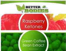 x100 RASPBERRY KETONE KETONES & x100 GREEN COFFEE BEAN EXTRACT SLIMMING PILLS