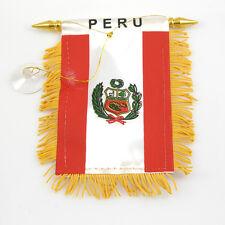 """PERU"" FLAG MINI BANNER CAR WINDOW MIRROR"