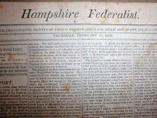 2 rare original 1809 newspapers printed the week that ABRAHAM LINCOLN was BORN