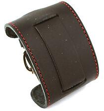 Nemesis STW-KR Black Wide Leather Cuff Wrist Watch Band