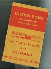 """1947 American Flyer AC Gilbert 3/16"""" S Scale RED COVER Instruction Book M2502"""