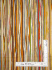 Songbook Harvest Autumn Brown Beige Wavy Stripe Cotton Fabric Marcus By The Yard