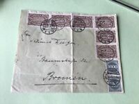 Germany Hamburg  1923 multi  stamps cover  ref 50518