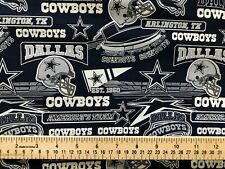 Dallas Cowboys 100% Cotton Fabric  *** New Updated Print**** Just Released