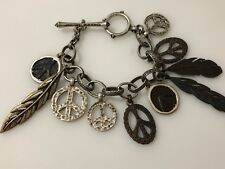 Lucky Brand Bracelet Peace/Feathers New