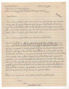 Robert Stroud - The Birdman of Alcatraz - Autographed 1946 Letter (ALS)