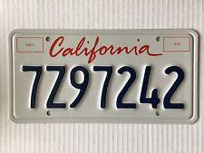 Pristine California License Plate White Metal Blue letters