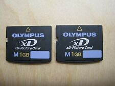Lot of 2 Olympus M 1GB xD Picture Memory Card (MXD1GM3)
