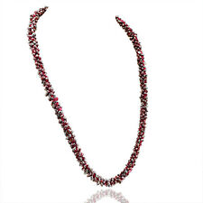 Fabulous Top Selling 478.15 Cts Natural Red Garnet Untreated Beads Necklace