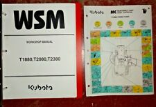 Kubota T1880 T2080 Tractor & Mower Service Repair Workshop Shop Manual Original!