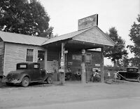 """1935 -1942 Gas Station & Country Store Vintage Old Photo 8.5"""" x 11"""" Reprint"""