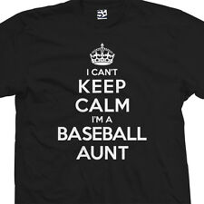 Baseball Aunt T-Shirt - I Can't Keep Calm I'm a Auntie Aunty - All Size & Colors