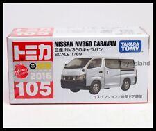 TOMICA 105 NISSAN NV350 CARAVAN 1/69 TOMY 2016 April New Model VAN White 2016