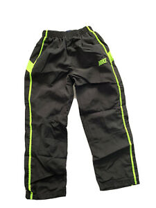 Nike Pants Boys Black Green Track Athletic Camo Logo Sz 7