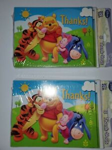 NEW 2x Disney Princess and Winnie The Pooh Plastic Sticky Note Tabs Organize D28