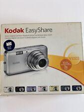Kodak Easyshare V1003 10 Megapix 3X Optical Zoom Digital Camera Blue NO CHARGER