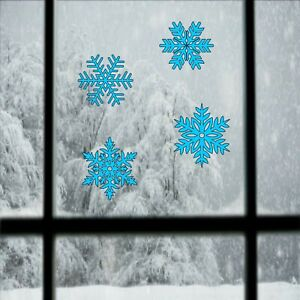 Snowflakes set of 4 vinyl decal stickers- window stickers Christmas decoration