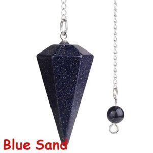 Natural Stone Crystal Pendulum Hexagonal Reiki Chakra Healing Pendant