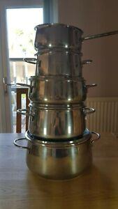 5 pce Fissler Cooking Pans