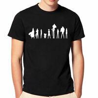 Mens Fashion T-shirt Anime One Piece TShirt Short Sleeve Tees Shirts Black/White