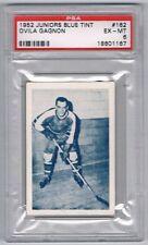 1952 Juniors Blue TintHockey Card Montreal Junior #162 Ovila Gagnon Graded PSA 6