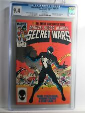 SECRET WARS #8 CGC 9.4 + 1+2+3-12 VF First Black Costume Venom + Titania Marvel