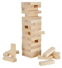 Jenga Wooden Tower Game 60 Blocks 45cm Height Skill & Accuracy Family Fun