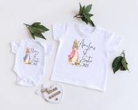 PERSONALISED EASTER BABY BODYSUIT OR T SHIRT