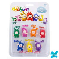 Oddbods Mini Figurine Set of 7, New by RP2 Global 3.5 cm toys Cartoon Character