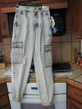 Jordache acid stone wash baggy pants jeans 1980s vintage new with tags 32 x 34