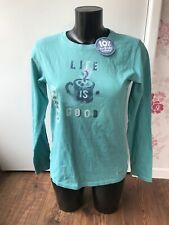 Life Is Good Sweatshirt - Jumper Turquoise -Blue Size S Tags On